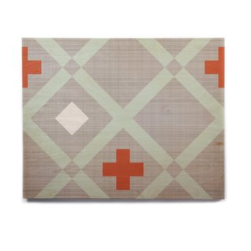 "Pellerina Design ""Mint Lattice Weave"" Gray Mint Birchwood Wall Art"