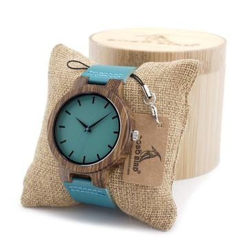 BOBO BIRD Men's Ebony Wood Watches Timepiece Simple Blue Design Men Top Brand Wrist Watches