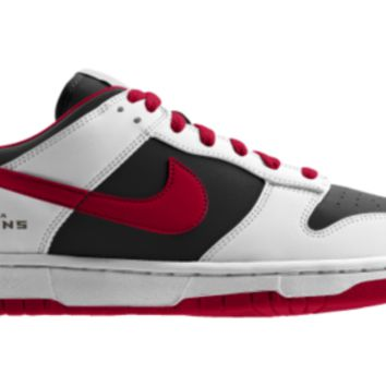 Nike Dunk Low NFL Atlanta Falcons iD Custom Men's Shoes - White