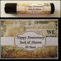 Personalized Party Favors Anniversary / 15 Custom Lip Balm Chapstick Favors / Bridal Shower / Bachelorette Favors / Birthday