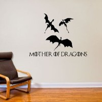 Game of Thrones Inspired Dragons Wall Decal Decor- Black