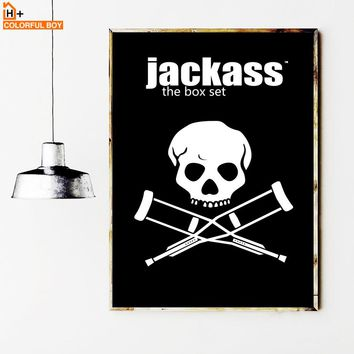 COLORFULBOY Jackass Movie Poster Wall Art Print Black White Pop Art Posters And Prints Canvas Paintings For Living Room Wall