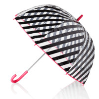 Clear Umbrella in Black Stripes by Kate Spade New York - FINAL SALE