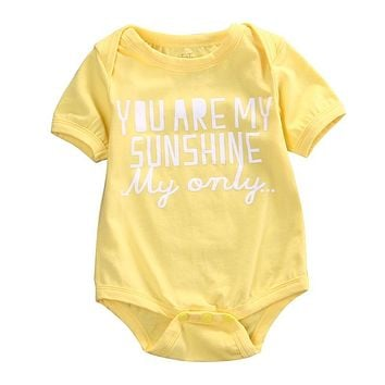 0-18M Newborn Baby Bodysuit Infant Kids Boys Girls Toddler Short Sleeve Bebes Body Bodysuits One Pieces Outfit
