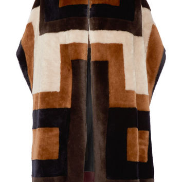 Gabriela Hearst - Mira reversible patchwork shearling coat