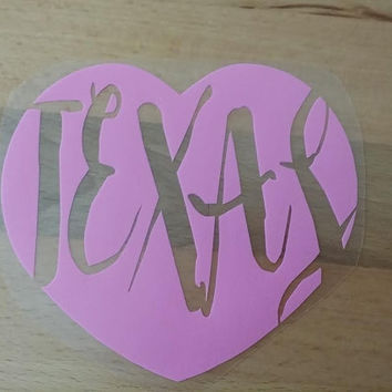 Love Texas Decal,Texas car decal,Texas car vinyl decal,vinyl decal,pink car decal,pink yeti decal,Texas decal,laptop decal,vehicle stickers