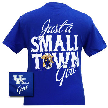 New UK Kentucky Wildcats Small Town Girl Girlie Bright T Shirt