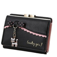 Kuang Womens PU Matte Leather Large Capacity Girls Wallet Card Holder Organizer Small Coin Purse