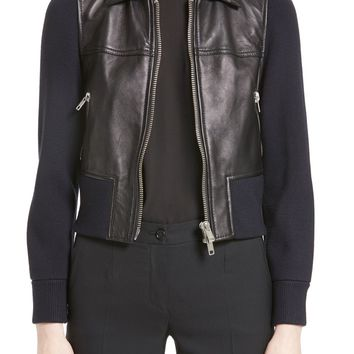 3.1 Phillip Lim Knit Combo Leather Jacket | Nordstrom