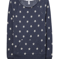 Stars - Off The Shoulder Sweatshirt- Eco Fleece -  Ruffles with Love - 4th of July