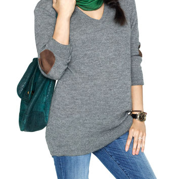 HATCH Collection Cashmere Boyfriend Sweater - Dark Grey -