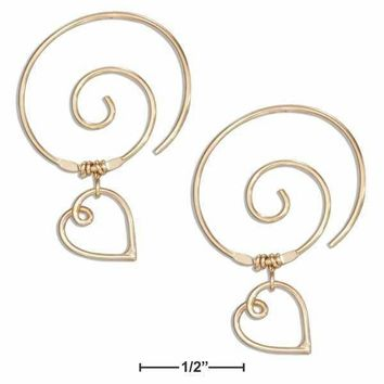 Home Improvement Ingenious Gold Earrings Circles Round Brass Jewelry Spiral Brass Tribal Hoop Earrings