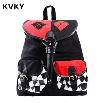 Batman Suicide Squad Harley Quinn Backpack Daypack School Shoulder Bag Backpack For Costume Accessories mochila Cosplay Knapsack