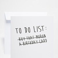 The Naughty Little Card Shop | The Naughty Little Card Shop To Do List Birthday Card at ASOS