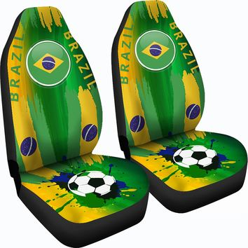 2018 FIFA World Cup Brazil Car Seat Covers 2pcs