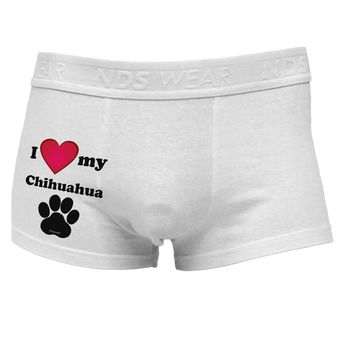 I Heart My Chihuahua Side Printed Mens Trunk Underwear by TooLoud