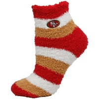 NFL San Francisco 49ers Women's Fuzzy Sleep Socks, One Size