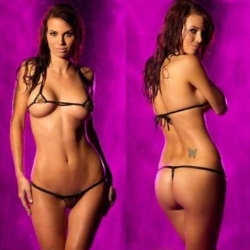 Two Piece String Slim Cup Lingerie Set