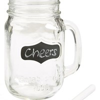 Circle Glass 'Yorkshire' Chalkboard Mason Jar Mugs (Set of 4)