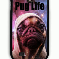 Samsung Galaxy S4 Case - Hard (PC) Cover with Funny Pug Life On Galaxy Plastic Case Design