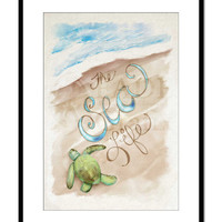 The Sea Life Water Color and Acrylics Original Wall Art Print Children's Book Illustration Home Decor