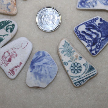FANTASTIC BEACH POTTERY Shards Awesome Pendent size Beauties in Rare Beautiful Patterns zy992