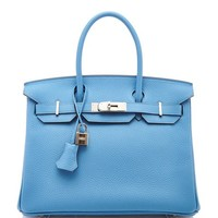 Heritage Auctions Special Collection Hermes 30Cm Blue Paradis Togo