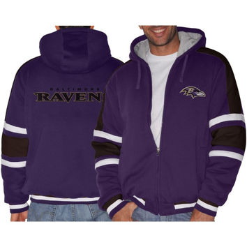 Baltimore Ravens Tailgate Transition Full Zip Jacket Jacket – Purple