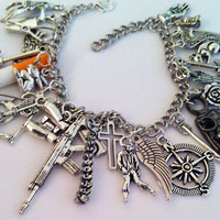 Super Deluxe Zombie Apocalypse Charm Bracelet - Zombie Survival Kit - Zombie Jewelry - Simple Zombie Jewelry - End of the world Jewelry