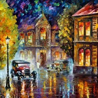 Los Angeles 1930 — PALETTE KNIFE Oil Painting On Canvas By Leonid Afremov - Size 30x40. 10% discount coupon - deviantart10off