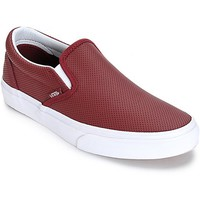Vans Classic Port Perforated Leather Slip-On Shoes