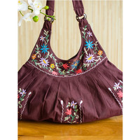 Pleated Blossom Shoulder Bag on Sale for $23.99 at HippieShop.com