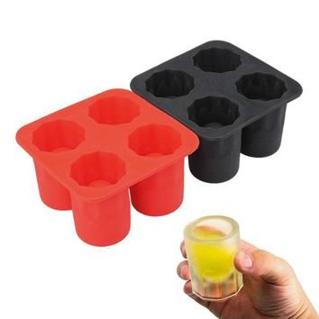 Silicone Ice Molds Cool Glass Shape Ice Cube Tray Maker Party Supply Bar Kitchen Accessories