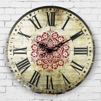 Large size decorative wall clocks absolutely silent vintage wall watches home decor roman numeral wall clock gift duvar saati