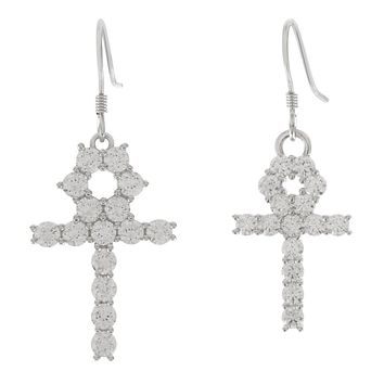The Hanging Ankh Earrings (Silver)