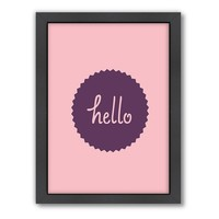 Americanflat Motivated Type ''Hello'' Framed Wall Art