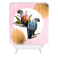 Kangarui Jolly Parrots Shower Curtain