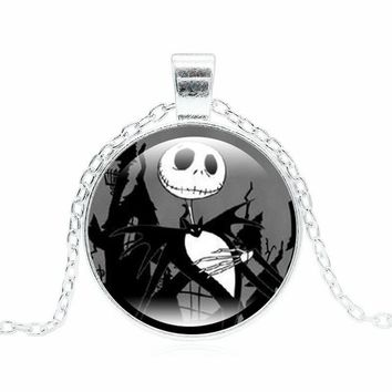 XUSHUI XJ The Nightmare Before Christmas Jack Bracelets & Bangles Silver Color Jewelry Fashion Statement Necklace Women Gift