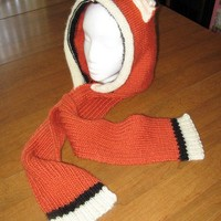 Handmade Knit Fox Earred Skoodie is Costume or Everyday Just-for-Fun