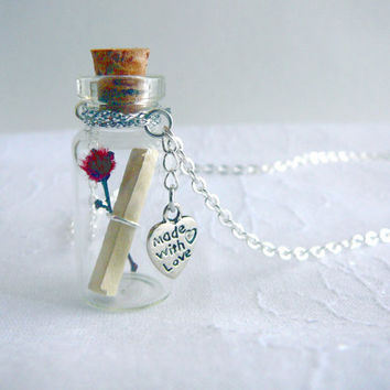SALE A Message In a Bottle Made With Love Glass by CaptureMyArt