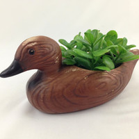 Mid Century Ceramic Duck Planter Vintage California Pottery Succulent Planter Nature Inspired Woodland Decor Rustic Cottage Duck Planter