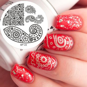 Butterfly Nail Art Stamp Template Image Plate BORN PRETTY Nail Stamping Plates BP22