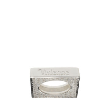 Vivienne Westwood Pave Square Ring
