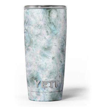 Marble Surface V2 Teal Yeti Rambler Skin Kit