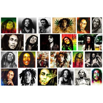 Best Nice Art Singer Series Poster Bob Marley Poster Best Gift Posters Fashion Modern Home Decor For Bedroom Wall Stickers