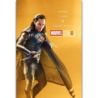 S1497 The Marvel Studios The First Ten Years Superhero Loki Wall Art Painting Print On Silk Canvas Poster Home Decoration