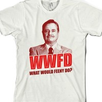 What Would Feeny Do?-Unisex White T-Shirt