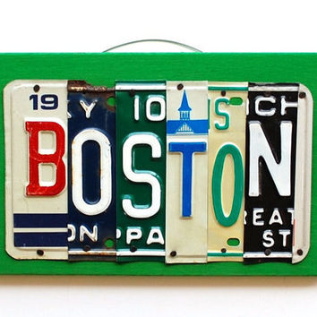 BOSTON OOAK License Plate Art Christmas Gift New by UniquePl8z