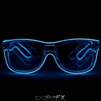 Customizable Wayfarer Luminescence Diffraction Glasses