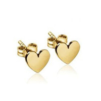 Baby Gold Heart Studs